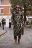 カムフラージュポリエステルレインコートの防水ジャケットの人のRainwear