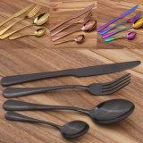 Cuillère de couteaux de la fourche en acier inoxydable peu coûteux de couverts fixe
