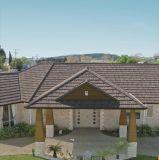 Azulejo de material para techos de acero revestido del material para techos del cinc de la piedra colorida acanalada de la hoja