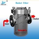 Filtro dal cestino del tubo dell'acqua di mare dell'acciaio inossidabile