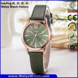우연한 석영 가죽끈 시계 OEM 합금 상자 손목 시계 (WY-114C)
