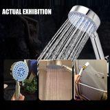 Пять функций осадков за круглым столом ручной душ в ванной комнате хромированный водосбережения головки блока цилиндров