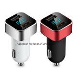 二重USB車の充電器、AppleのiPhone、iPad、Samsungギャラクシー/S Series&Edgeモデル、LG、Googleの関連、他のIosおよび人間の特徴をもつ装置のためのLED表示電圧そして流れ