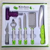 7PCS кухонных кухонные приспособления режущего инструмента ножа для очистки овощей