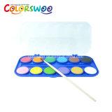 El arte suministra la torta del color de agua de los 24*2.1cm para la pintura y el gráfico W2124