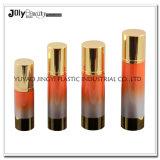 高品質の方法50mlは金のアクリルのプラスチッククリーム色の瓶を空ける