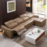 Insieme sezionale del sofà del Recliner di L-Figura del salone