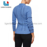 As mulheres de tricô moda suéter com padrão de Bonito