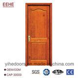 Puerta de madera levantada simple del diseño del panel de Eehe