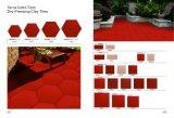 Rote Farben-Terrakotta-Keramikziegel, verdrängte Lehm-Fußboden-Fliese