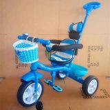 Rad-Fahrrad der Kind-drei mit Umbralla