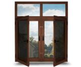 쉬운을%s 가진 여닫이 창 그네 알루미늄 Windows는 모기장 스크린을 설치한다