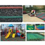 屋外の演劇の一定の子供公園のスライドの運動場