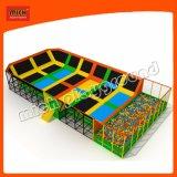 Saut de carrés de vente chaude Mat Mini-trampoline Bounce lit pour la vente avec le basket-ball et de la mousse Pit