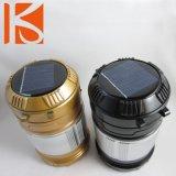 LED mais popular a Solar Camping Lantern com USB