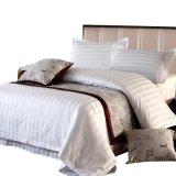 witte Streep 100% van jaren '40 de Textiel van het Hotel van het Katoenen Linnen van het Beddegoed (JRC252)