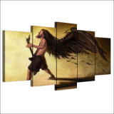 HD a estampé 5 illustrations classiques de mur d'homme d'aile de doyen Razorbolt Paintings Abstract de guitare d'art de toile de partie