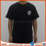 سوداء حريري طباعة قطر [ت] قميص