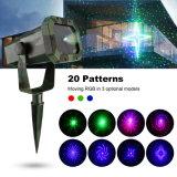 Os lasers de controle remoto do Natal do RF dos testes padrões do RGB 20, projetor ao ar livre iluminam-se (NL69)