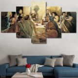 أطر [هد] صور جدار نوع خيش تضمينيّ فنّ منزل زخرفة 5 لوح يطبع [لت سوبّر] لأنّ يعيش غرفة صورة زيتيّة حديثة ملصقة