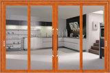 Puerta deslizante de las pistas de aluminio del perfil dos para la cocina