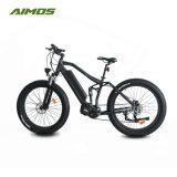 Centro de OEM de motor de 26pulgadas suciedad bicicleta eléctrica con suspensión completa