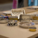 Conteneur remplaçable de roulis de plaque de plateau de nourriture de papier d'aluminium