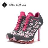 2017 nuevos zapatos de moda del deporte de la señora alto talón de la buena calidad del diseño