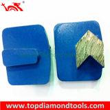 Этапы диаманта полируя с плитой трапецоида для конкретный молоть