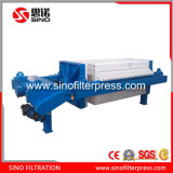 Prensa de filtro automática de membrana de la barra lateral con el líquido filtrado ocultado