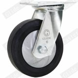 Hochleistungsnylonkern-elastische Gummifußrolle mit Spitzenbremse (G4403D)
