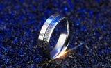 Venta al por mayor fresca de la joyería de la boda del coctel del anillo de 2017 nueva de la manera de los números romanos del intervalo del negro del anillo hombres del acero inoxidable