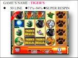 Tigers-50 Лини-Супер Respin  Машина машины игры машины игры шлица управляемая монеткой играя в азартные игры