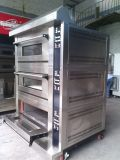 3 dek 6 de Dienbladen Verdeelde Oven van de Nevel van het Gas van de Manier met Digitaal Controlemechanisme voor Zaken (wfc-306QHAF)