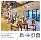 O restaurante de madeira escura com cadeira de hotel (YB-R1)