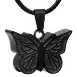 Titular Ijd8051 al por mayor de la mariposa barato memoria collar pendiente del acero inoxidable del collar de la cremación las cenizas del recuerdo