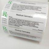 Étiquettes médicales d'ordonnance de Rx de cannabis de la Californie