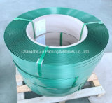 Bande à haute résistance verte de plastique de roulis enorme de force