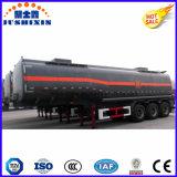 3 de l'essieu 42000L d'acier inoxydable de réservoir remorque d'essence et d'huile semi
