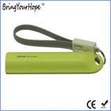 2600mAh recouvert de cuir avec bracelet de la Banque d'alimentation Câble USB (XH-PB-255)