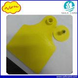 Marca auricular dos rebanhos animais da freqüência ultraelevada RFID para o Tag de orelha Identifiication do gado