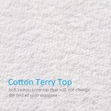 無雑音および柔らかい綿によってテリー合われる様式のマットレスの保護装置