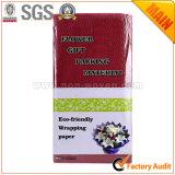 Documento de embalaje floral y de regalo No. 12 Borgoña