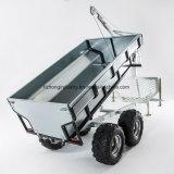 ATV Tippende Aanhangwagen, de Aanhangwagen van het Hout van het Slepen ATV met het Hydraulische Logboek van de Kraan, het Landbouwbedrijf van de Aanhangwagen ATV