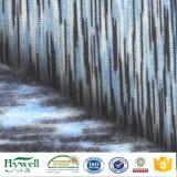 Полированный пространства на основе красителя спандекс из полиэфирного волокна ткани для худи свитера