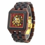Qualitäts-reizend hölzerne Fertigkeit-Marken-Uhren mit kundenspezifischem freiem Firmenzeichen