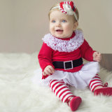 Il bambino scherza i vestiti di natale del bambino, Santa ha barrato la principessa Dress, bambino Jumsuit, pagliaccetto del bambino