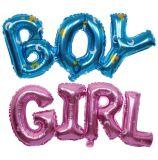 Ballon uni de lettre de fille de garçon pour la décoration de douche de bébé de fête d'anniversaire
