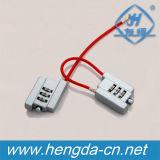 Cadeado de Resetable da combinação da senha do dígito, cadeado com cabo
