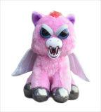 Gli animali domestici aggressivi hanno farcito il giocattolo spaventoso del fronte con il regalo di atteggiamento